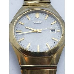 Mens CITIZEN Eco Drive Gold/Grey Watch
